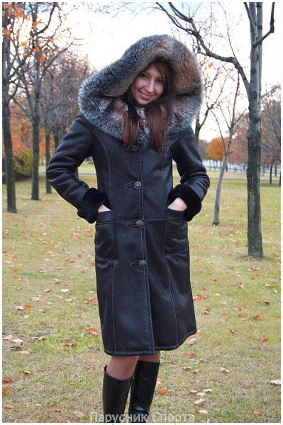 Женская дубленка Дубленки, пальто и кожаные